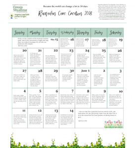 ramadan care creation 2018 calendar