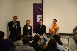 Dr. Richard Cizik with panel