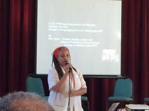 Rev presents climate science