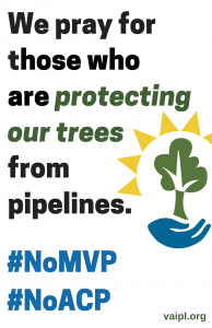 We Pray Tree Protectors Sign