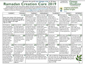 Ramadan Creation Care Calendar | VAIPL